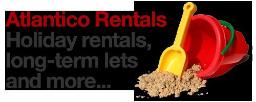 Logo of Atlantico Rentals, holiday and long term property lets in Lanzarote
